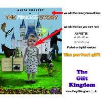 The Princess story - A3 POSTER  'In front of a castle'
