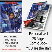 SUPERHERO COMIC BOOK PRINTED (Child Female version)